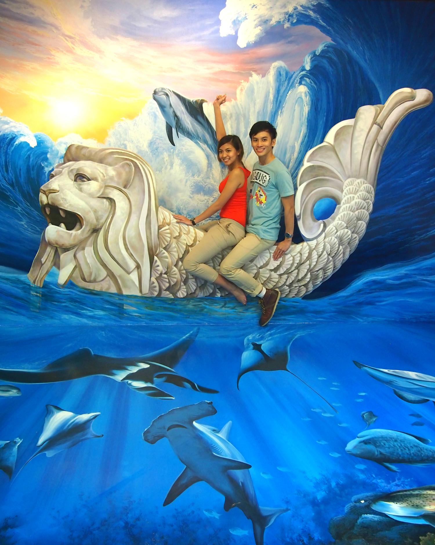 3D фотографии из Музея оптических иллюзий Сингапура