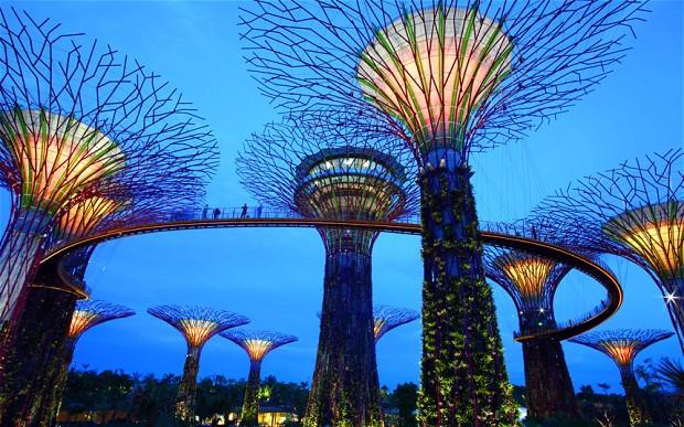 Фото прибрежных садов в Сингапуре