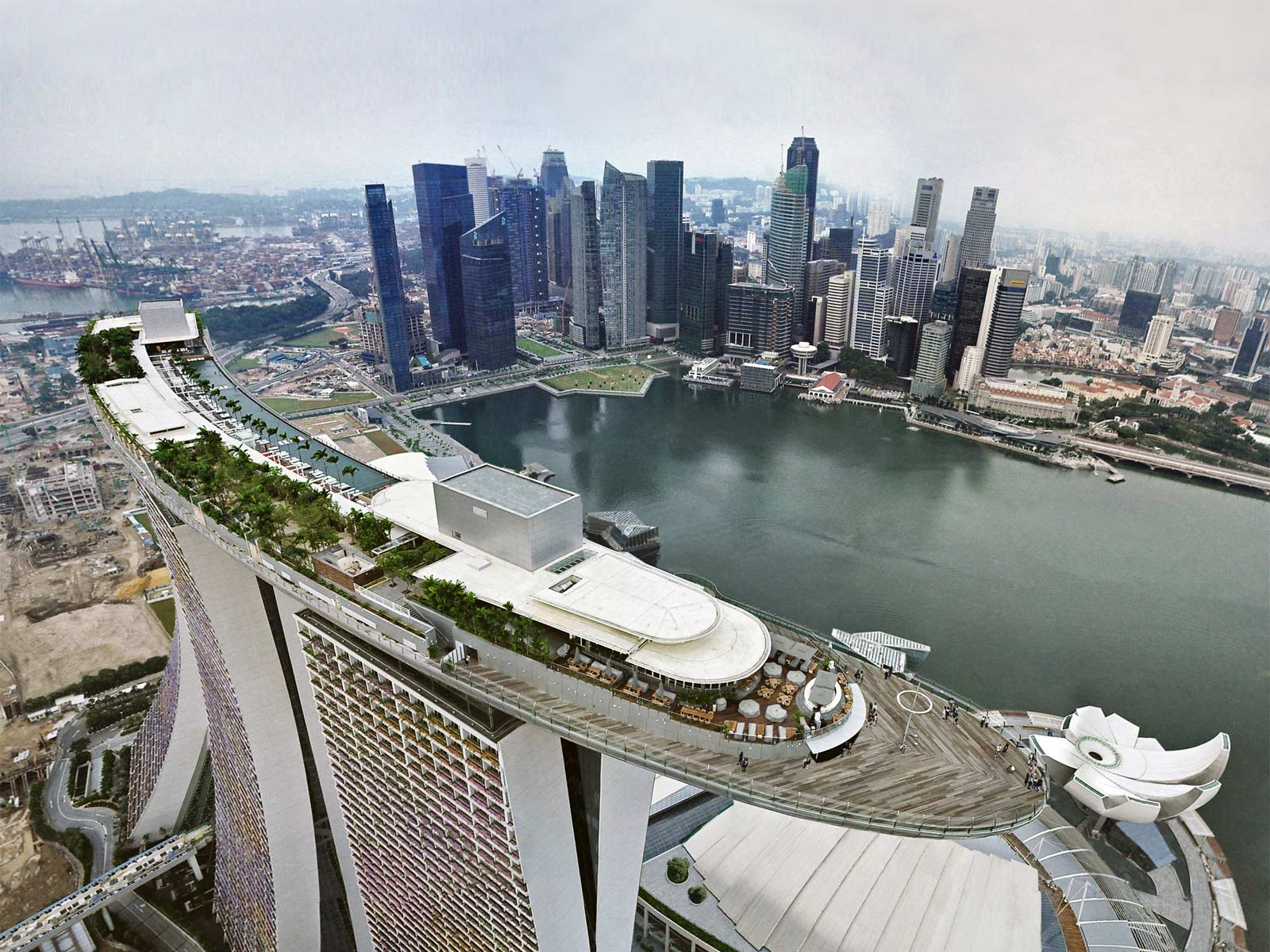 Фото Сингапура - Скай парк Марина Бей