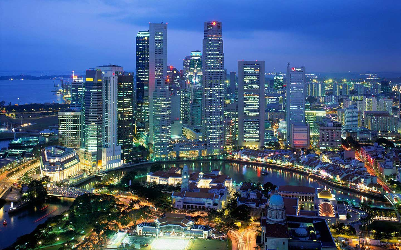 Фото Сингапура ночью
